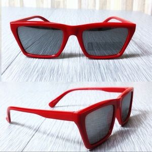Other - 2/$18 NWOT Red Retro Rectangle Sunglasses
